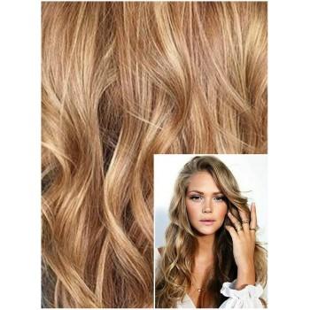 VLNITÉ DELUXE Clip in 50cm 200g REMY lidské vlasy - PŘÍRODNÍ / SVĚTLEJŠÍ BLOND