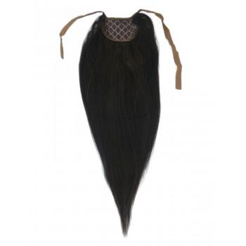 Nejtmavší hnědý clip-in culík (002), 50 cm, REMY, 80g