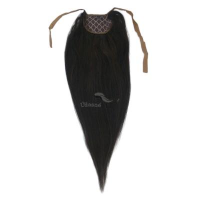 Tmavě hnědý clip in culík (002), 50 cm, REMY, 80g