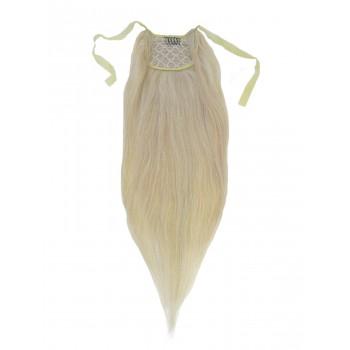 Nejsvětlejší blond clip-in culík (613), 50 cm, REMY, 80g