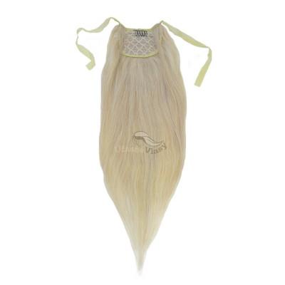 Nejsvětlejší blond clip in culík (613), 50 cm, REMY, 80g