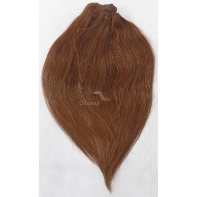 Kaštanové vlasy - Clip in set, 10 ks, 50 cm, REMY, 160g (008)