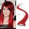 Červené Clip-in proužky, 50 cm (RED) - Hayley Williams