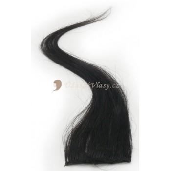 Přírodně černé vlasy k prodloužení - Clip-in proužky, 50 cm (001B)