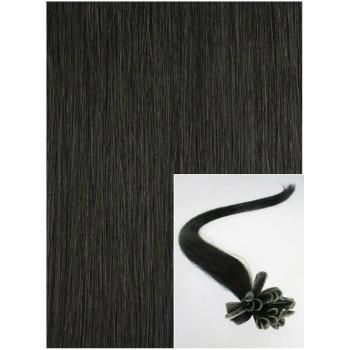 Vlasy na keratin, 40 cm 0,5g/pr., 50 pramenů - černá