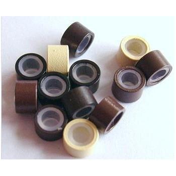 Náhradní micro ringy (kroužky) se silikonem 50ks - černé