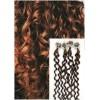 Kudrnaté micro ring vlasy, 50 cm 0,5g/pr., 50 pramenů - SVĚTLEJŠÍ HNĚDÉ