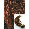 Kudrnaté vlasy na keratin, 50 cm 0,5g/pr., 50 pramenů - SVĚTLEJŠÍ HNĚDÉ