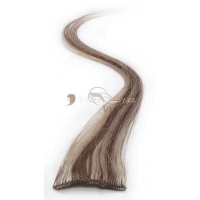 Melírované světle hnědé/nejsvětlejší blond - Clip in prameny, 50 cm (012/613)