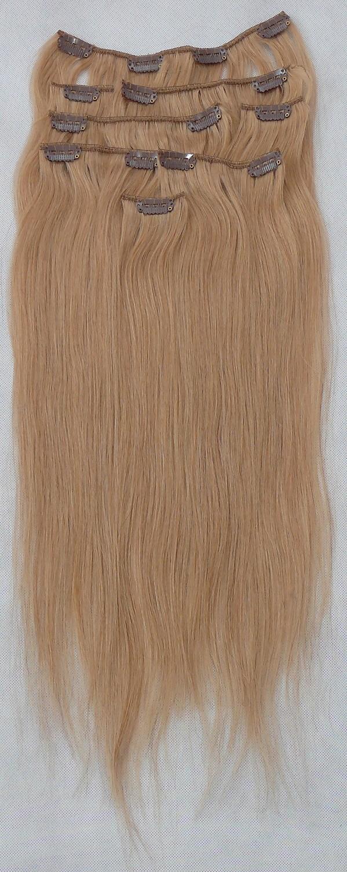 Popelavě blond vlasy k prodloužení - Clip in set, 8 ks, 50 cm (016)