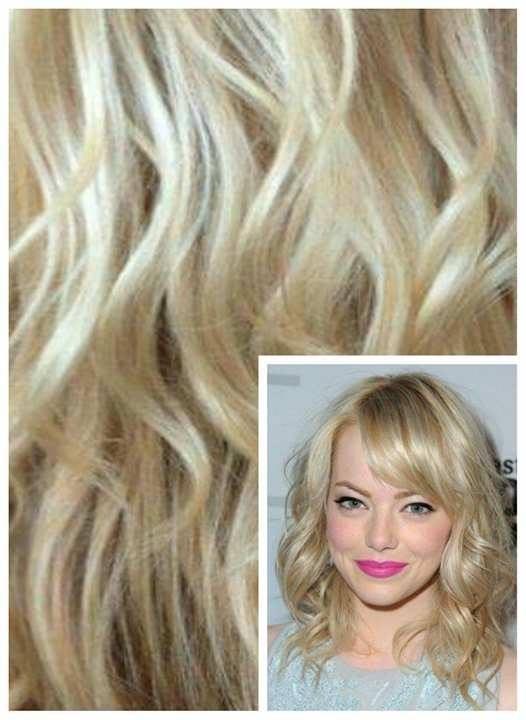 Clip in VLNITÉ 50cm 100g REMY lidské vlasy - NEJSVĚTLEJŠÍ BLOND