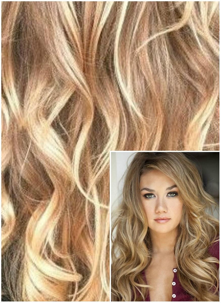 Clip in VLNITÉ 50cm 100g REMY lidské vlasy - SVĚTLÝ MELÍR
