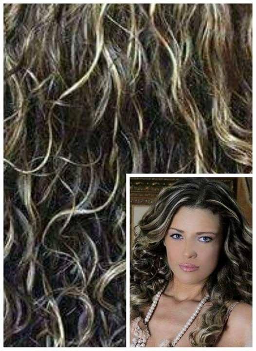 Clip in KUDRNATÉ 50cm 100g REMY lidské vlasy - TMAVÝ MELÍR