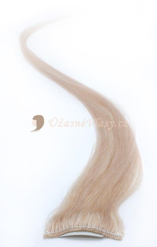Zlatavě blond vlasy k prodloužení - Clip in prameny, 50 cm (022)