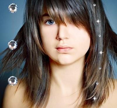 Swarovski kamínky do vlasů - bílá