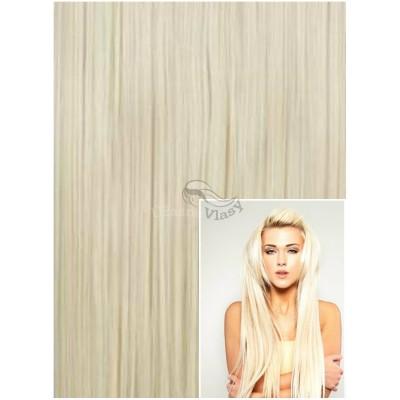 Vlasy k prodloužení tape in, 40 cm, 40 ks - PLATINOVÉ