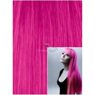 Vlasy k prodloužení tape in, 50 cm, 40 ks - RŮŽOVÉ