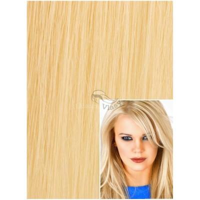 Vlasy k prodloužení tape in, 60 cm, 40 ks - NEJSVĚTLEJŠÍ BLOND