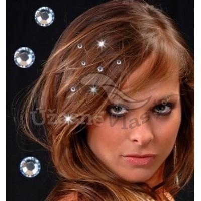 Kamínky k navléknutí na pramen vlasů - růžová