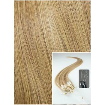 Micro ring vlasy, 60 cm 0,7g/pr., 50 pramenů - PŘÍRODNÍ BLOND