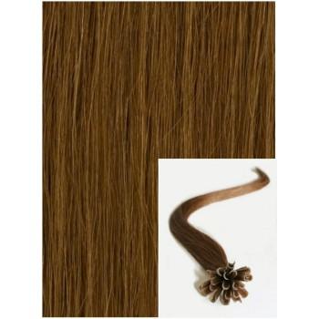 Vlasy na keratin, 40 cm 0,7g/pr., 50 pramenů - SVĚTLEJŠÍ HNĚDÉ