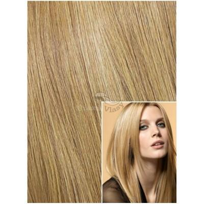DELUXE Clip in 40cm 140g REMY lidské vlasy - PŘÍRODNÍ BLOND