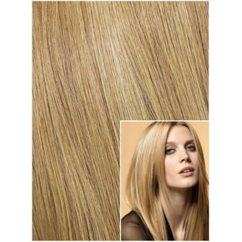 DELUXE Clip in 50cm 200g REMY lidské vlasy - PŘÍRODNÍ BLOND