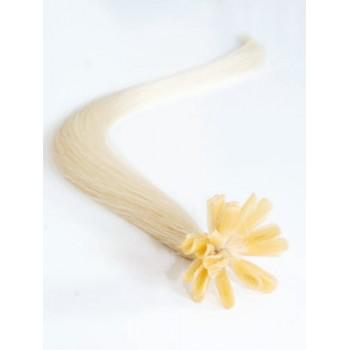 Platinové blond vlasy - keratin, 50 cm, 25 pramenů (060)