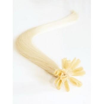 Nejsvětlejší blond vlasy - keratin, 50 cm, 25 pramenů (613)