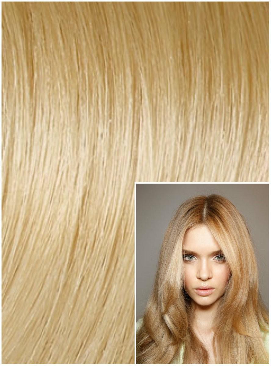 Clip in 40cm 100g REMY lidské vlasy - PŘÍRODNÍ / SVĚTLEJŠÍ BLOND