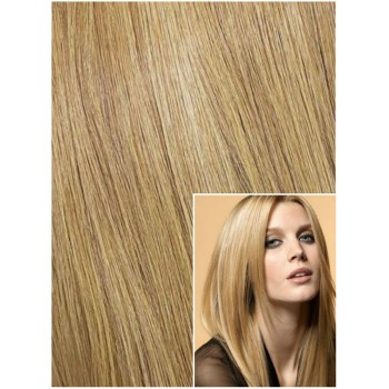 Clip in 40cm 70g  REMY lidské vlasy - PŘÍRODNÍ BLOND