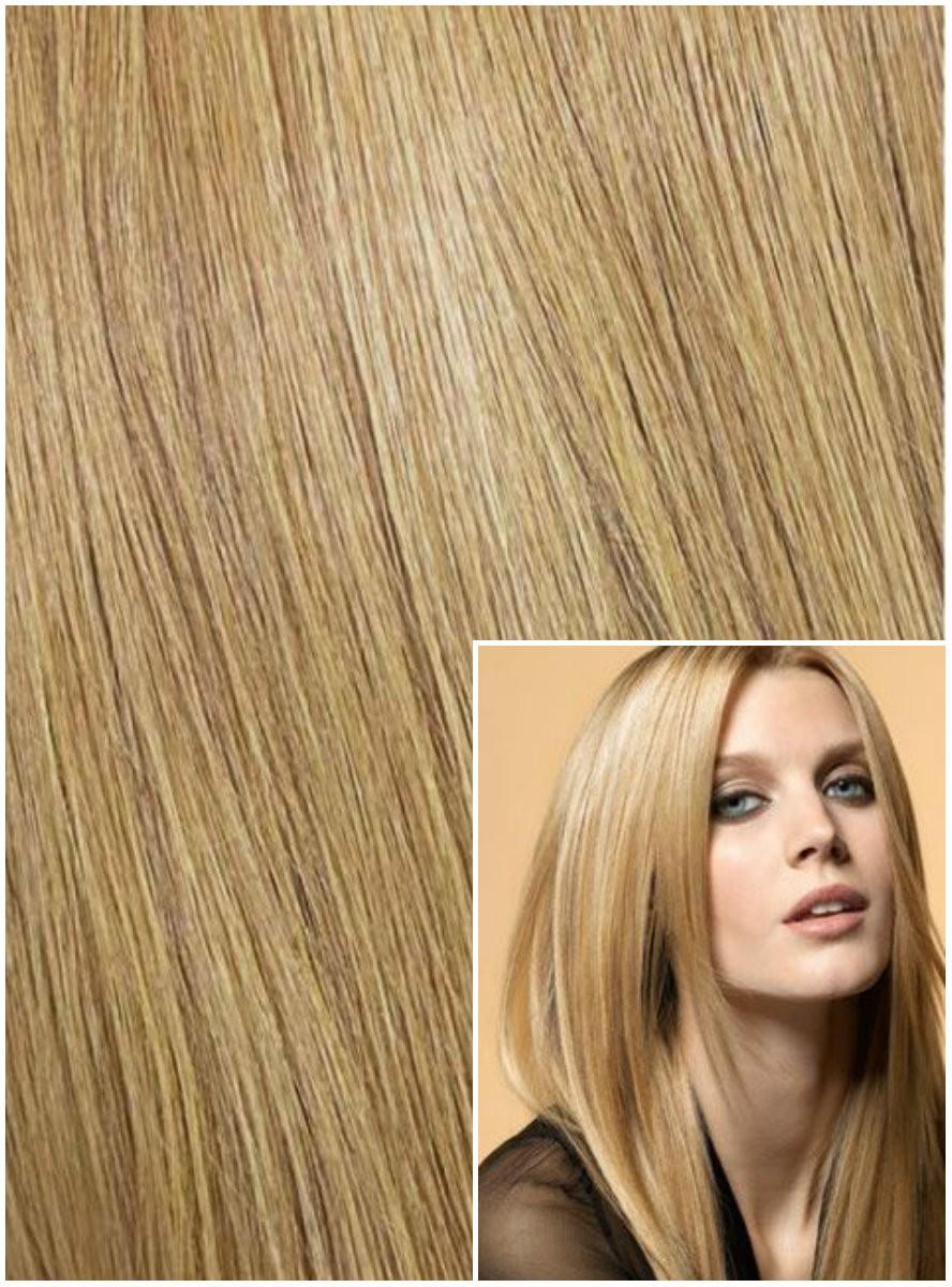 Clip in 60cm 120g REMY lidské vlasy - PŘÍRODNÍ BLOND