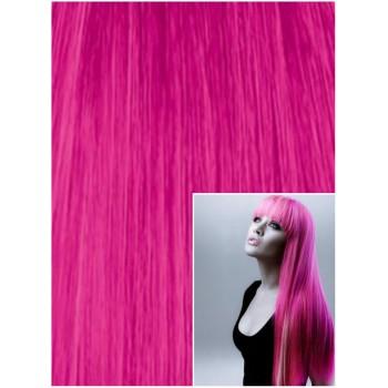 Vlasy k prodloužení tape in, 40 cm, 40 ks - RŮŽOVÉ