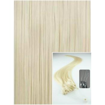Micro ring vlasy, 50 cm 0,5g/pr., 50 pramenů - PLATINOVÉ
