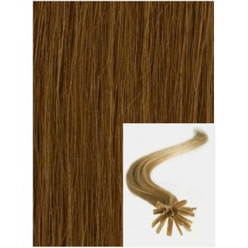 Vlasy na keratin, 40 cm 0,5g/pr., 50 pramenů - SVĚTLE HNĚDÉ