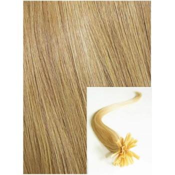 Vlasy na keratin, 40 cm 0,5g/pr., 50 pramenů - PŘÍRODNÍ BLOND