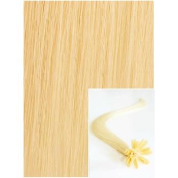 Vlasy na keratin, 40 cm 0,7g/pr., 50 pramenů - NEJSVĚTLEJŠÍ BLOND